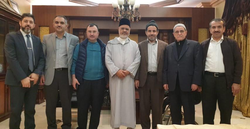 رئيس الاتحاد  يستقبل وفدا من جامعة رسائل النور التركية