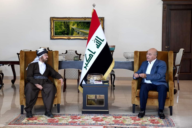 الرئيس العراقي والقره داغي يبحثان ترسيخ التعايش السلمي .. والأخير يثمن نجاح الحوار ويؤكد