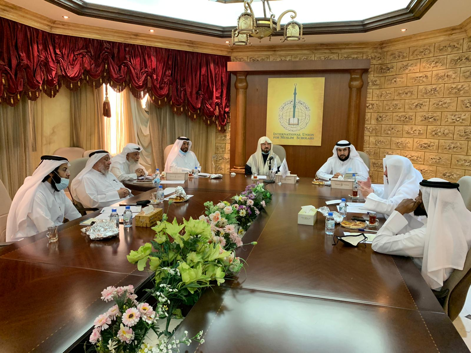 الأمين العام للاتحاد الشيخ الدكتور علي القره داغي يلتقي بفرع قطر