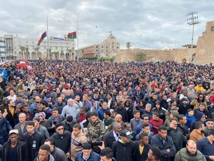 تعزية لأهالي طلبة الكلية العسكرية وأحرار الشعب الليبي في الكارثة التي وقعت في طرابلس من ميليشيات الغدر والإجرام