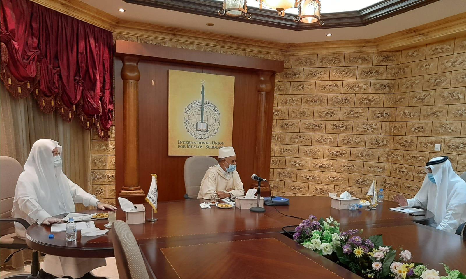رئاسة الاتحاد والأمانة العامة تعقدان اجتماع عمل ومتابعة لأنشطة الاتحاد