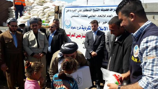 Qara Daghi is inspecting the situation of the IDPs in Mosul and appeals to the world to help them